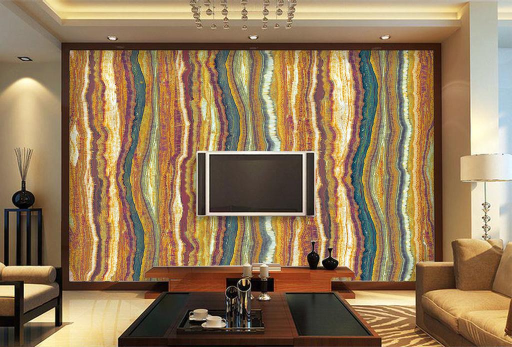 条纹石纹电视背景墙