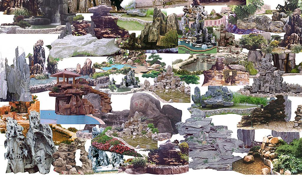 设计元素 其他 其他 > 景观假山石头psd高清分层图  版权图片 设计师