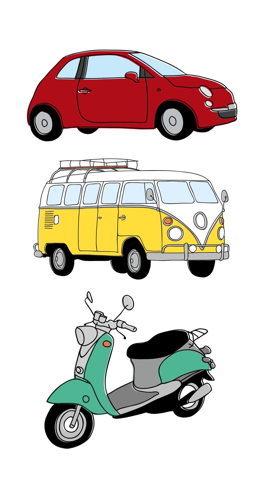 卡通交通工具素材