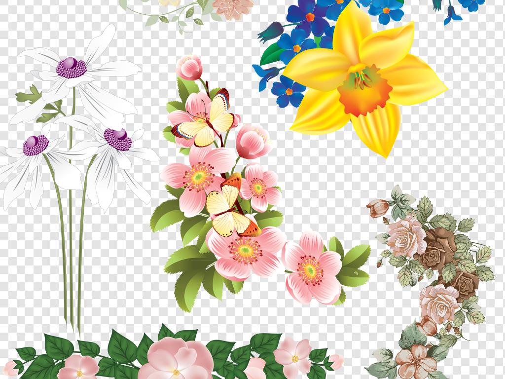海报素材植物png手绘png花卉png花边png花丛png手绘植物png展架易拉宝