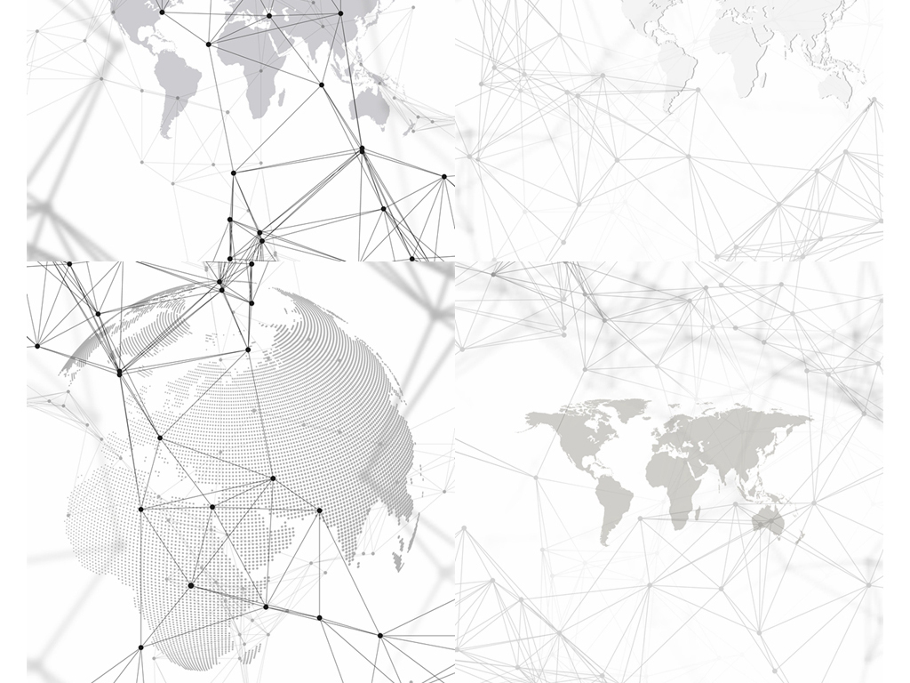 科技地球现代几何线条eps矢量素材合集