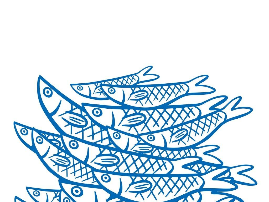 手绘鱼素材