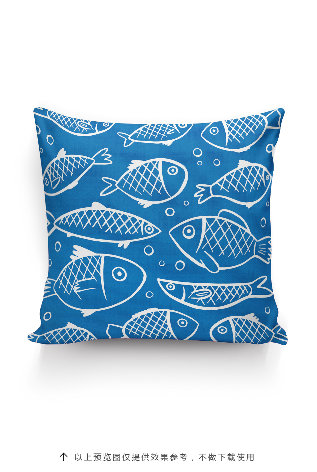 手绘卡通鱼抱枕图案设计海洋元素图片素材_高清其他()