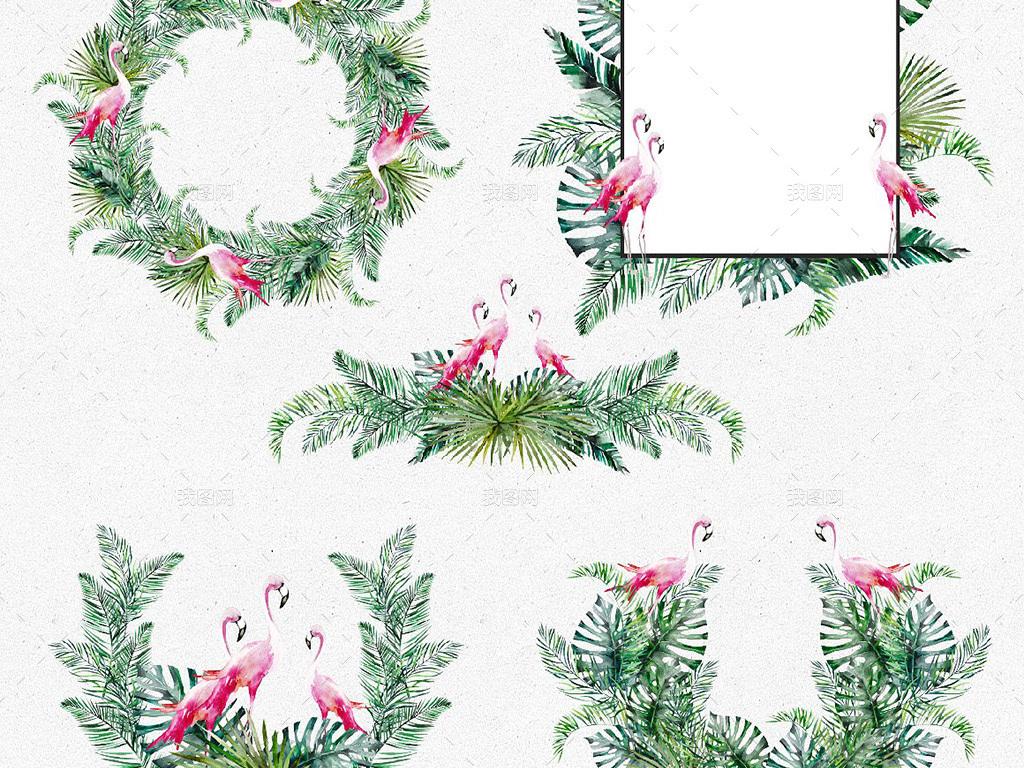 素材边框高清元素花卉植物手绘花卉水彩花卉水彩高清手绘水彩高端手绘