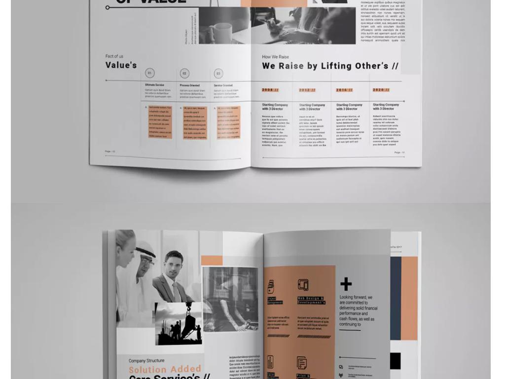通用企业宣传画册设计ai模板小册图片