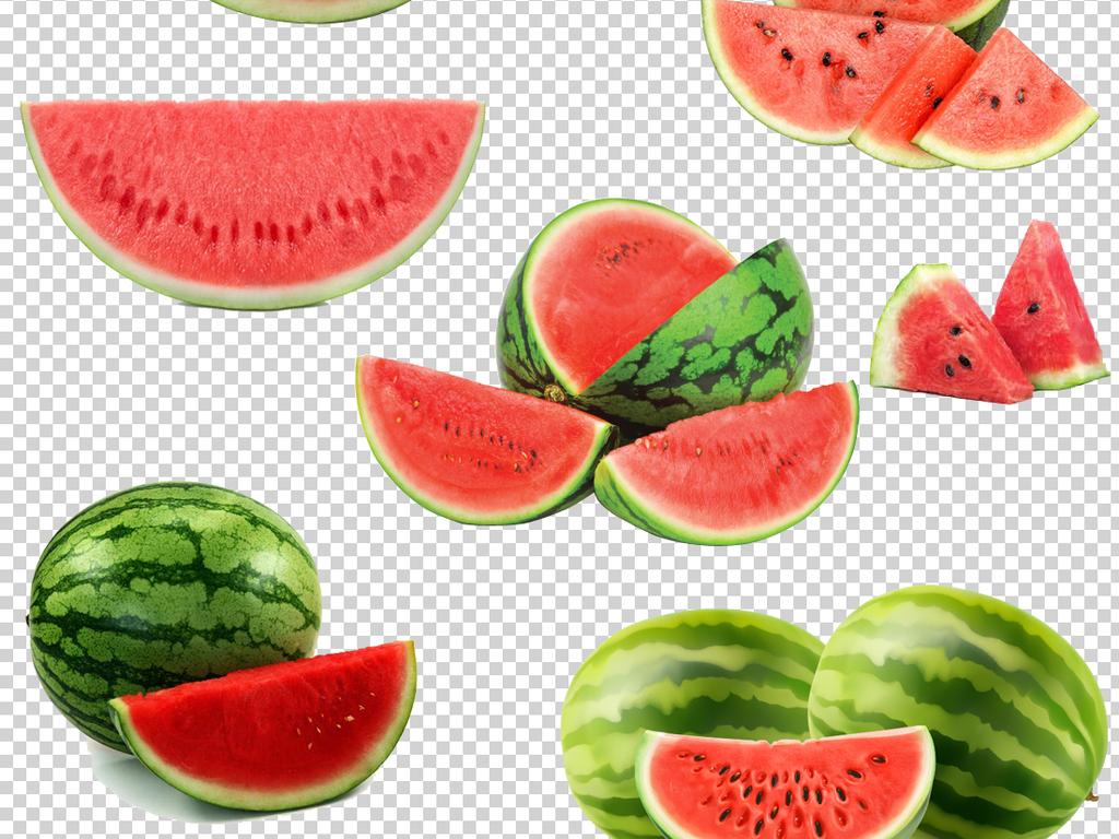 夏天美味西瓜png透明背景免扣素材