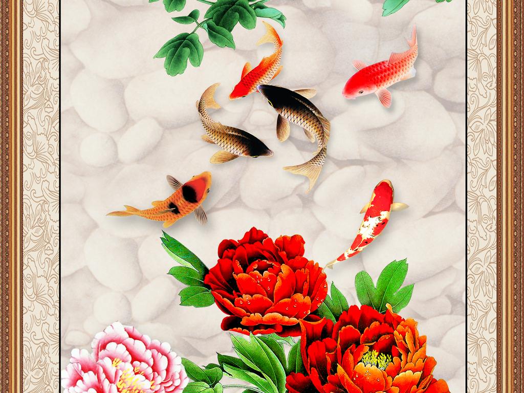 花开富贵牡丹装饰画图片