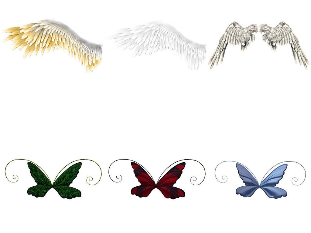 翅膀精灵蝴蝶3精灵翅膀素材精灵素材翅膀天使翅膀免抠古风素材免抠