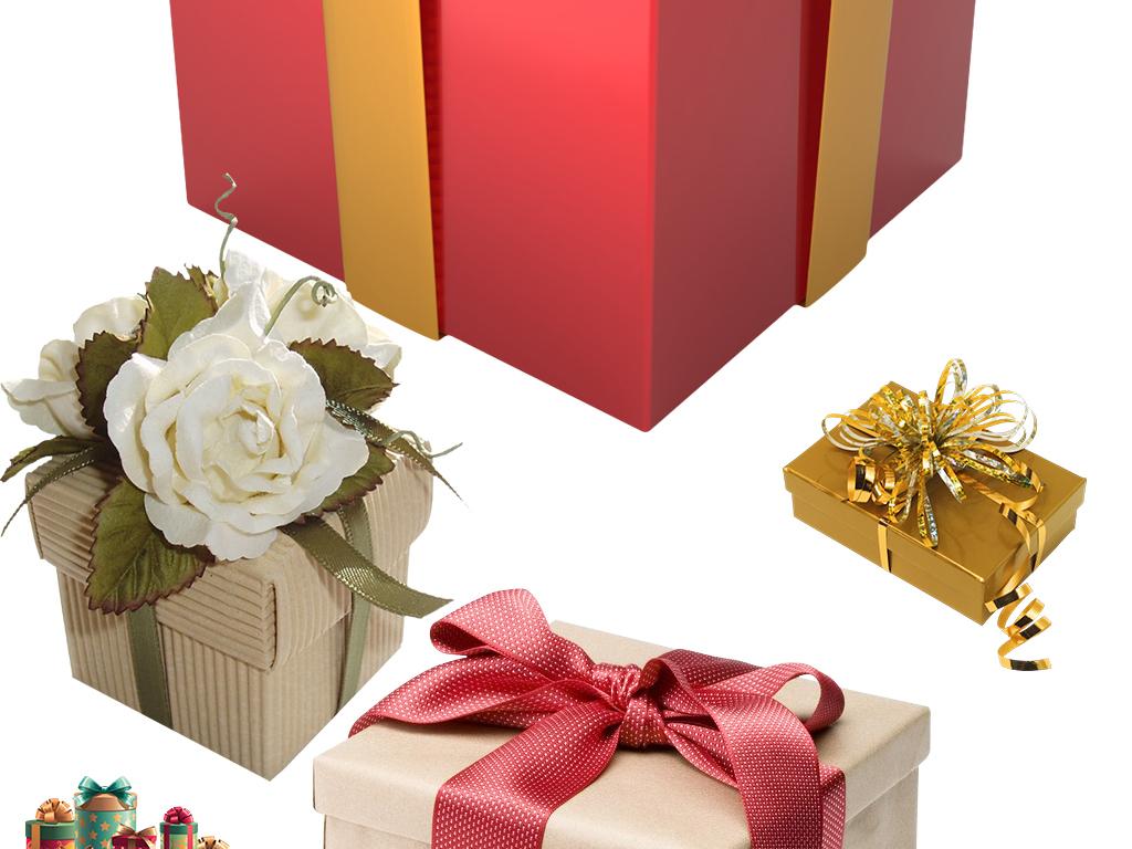 卡通手绘精美礼品礼物盒图片素材集锦png