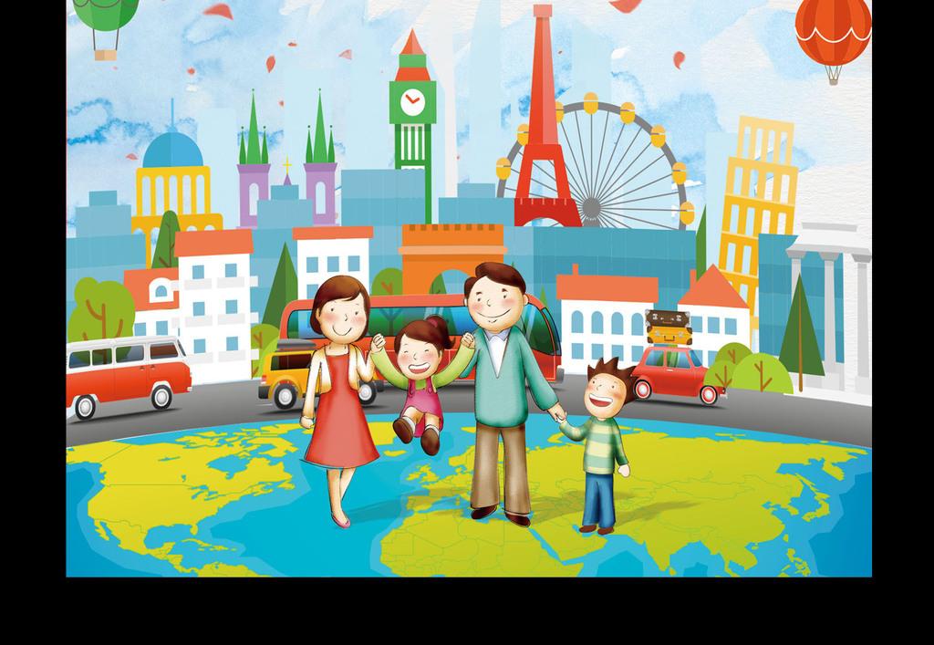 亲子游旅游活动促销宣传海报