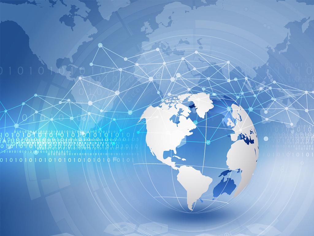 蓝色科技地球矢量素材