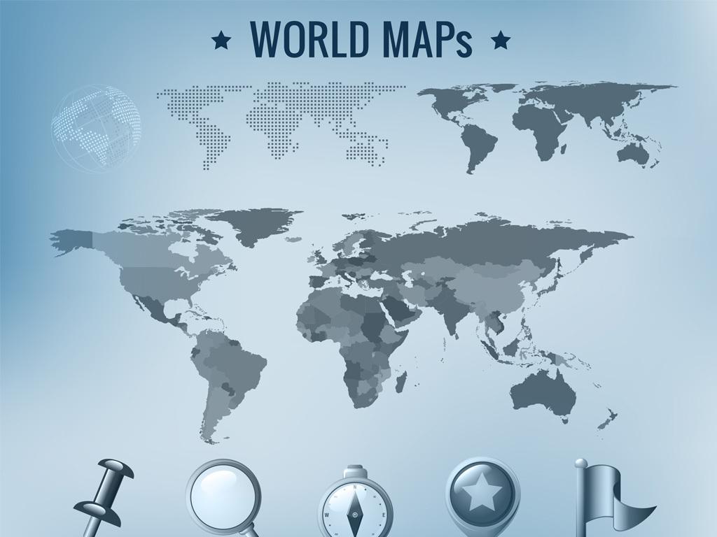 eps)矢量地图插图背景地图世界地图