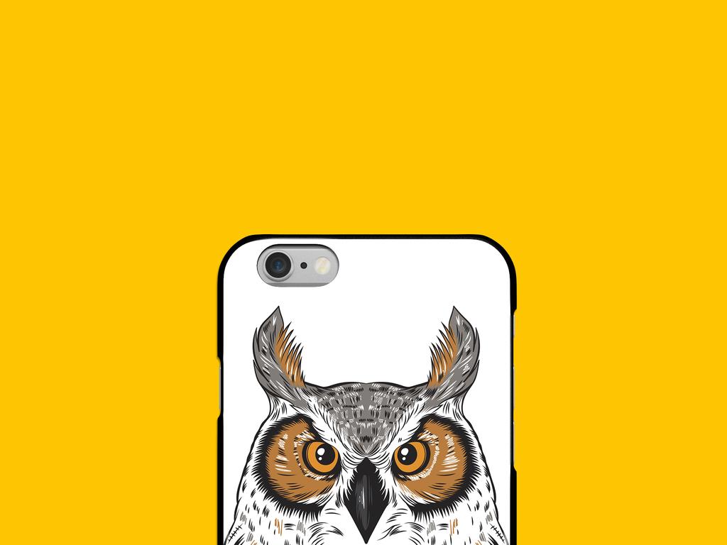 猫头鹰手机壳图案设计(图片编号:16480630)_动物图案