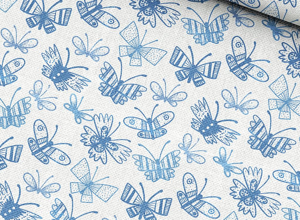 手绘蝴蝶背景图案设计