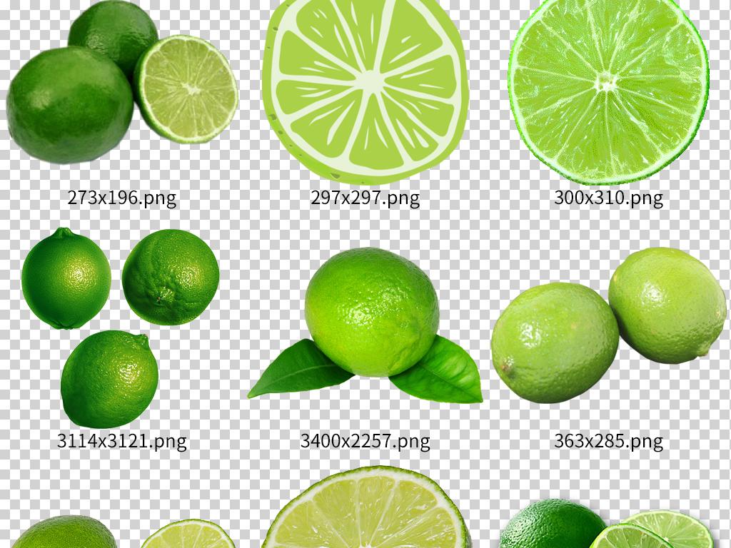 绿色水果青柠檬饮料图片素材