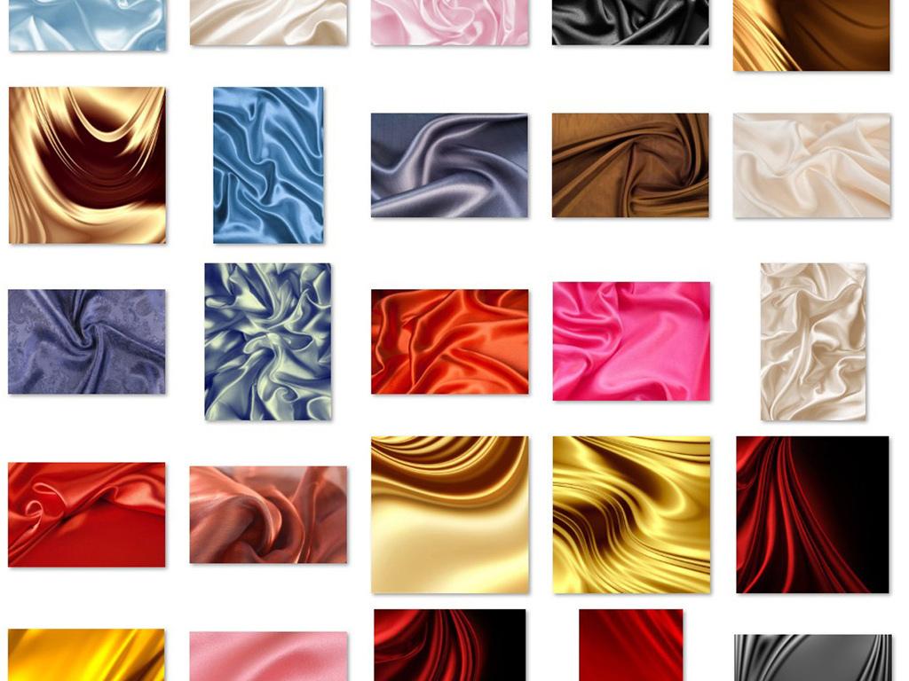 精美丝绸绸子高档绸缎丝绸褶皱布纹布料背景图片下载素材 其他