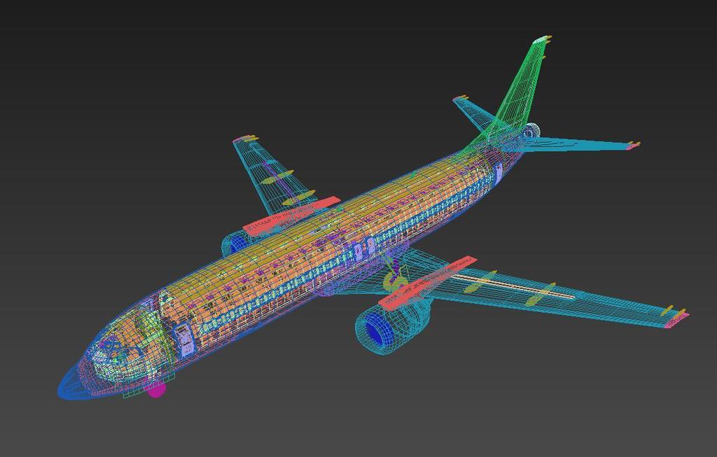超精细737berlin飞机内部波音737客机