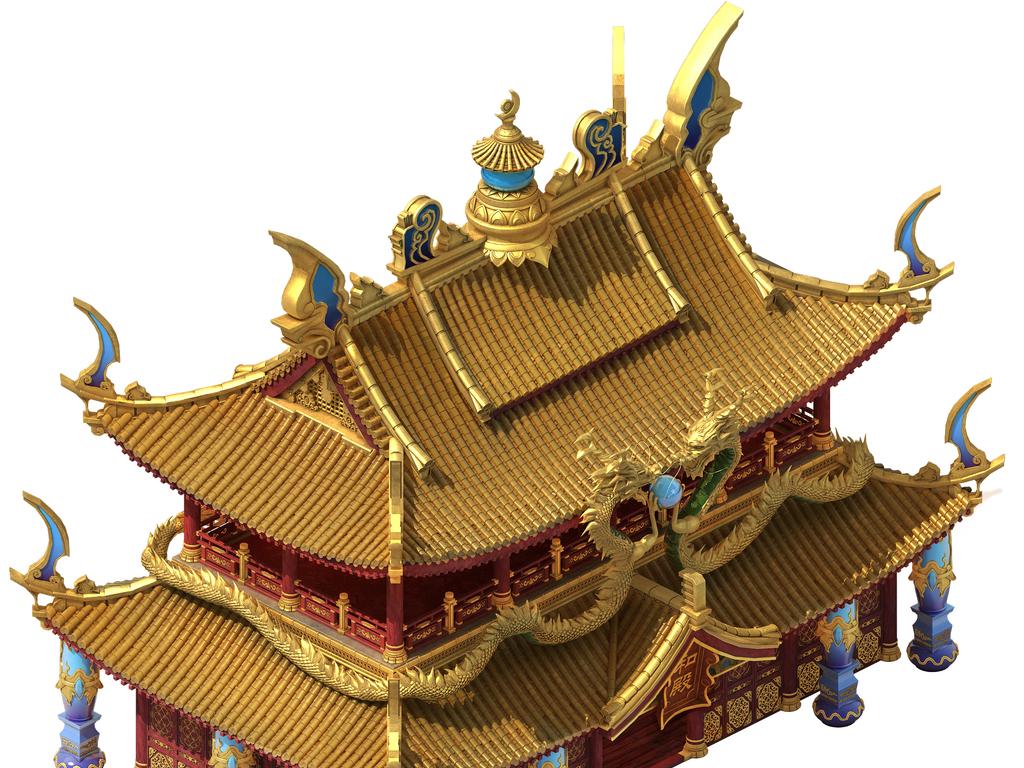 中国古代皇宫金銮殿主建筑模型图片