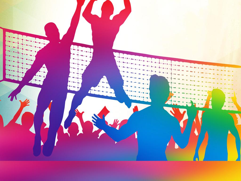排球招新比赛培训海报