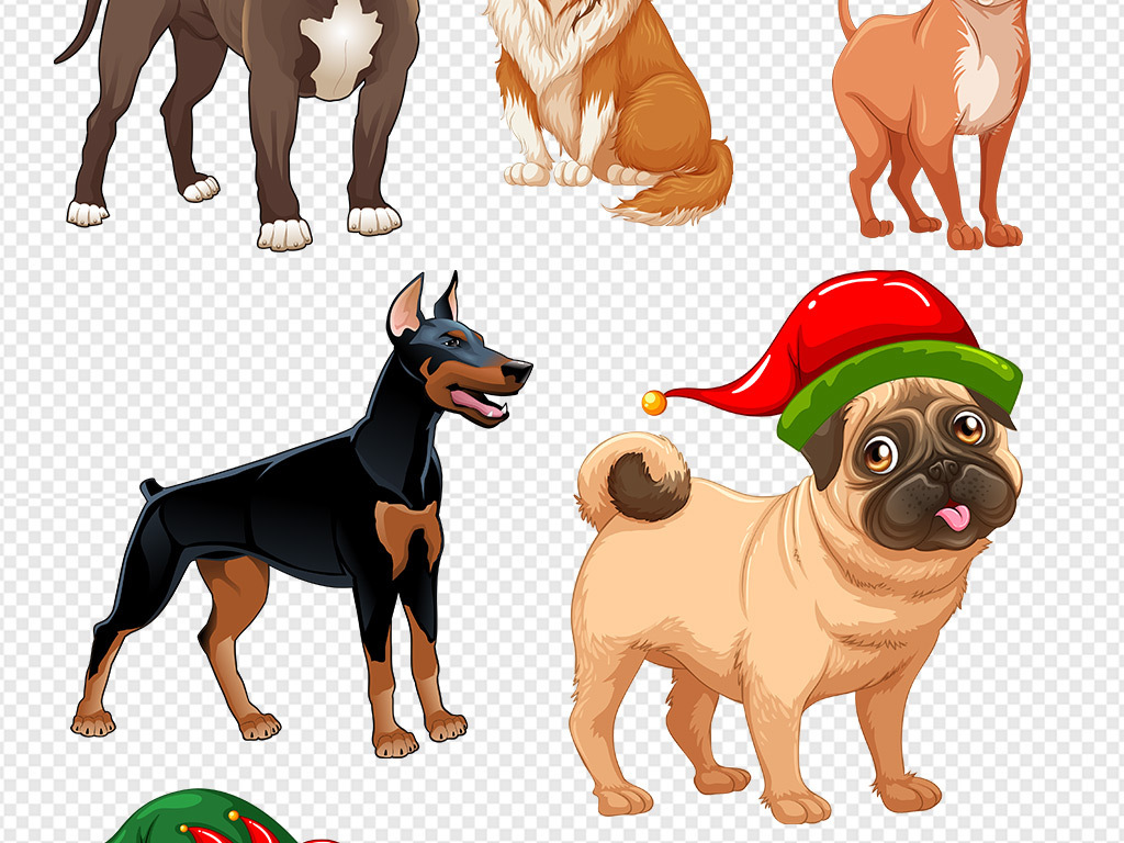 萌宠免抠素材狗狗素材卡通人物卡通背景卡通动物卡通笑脸卡通小猴子