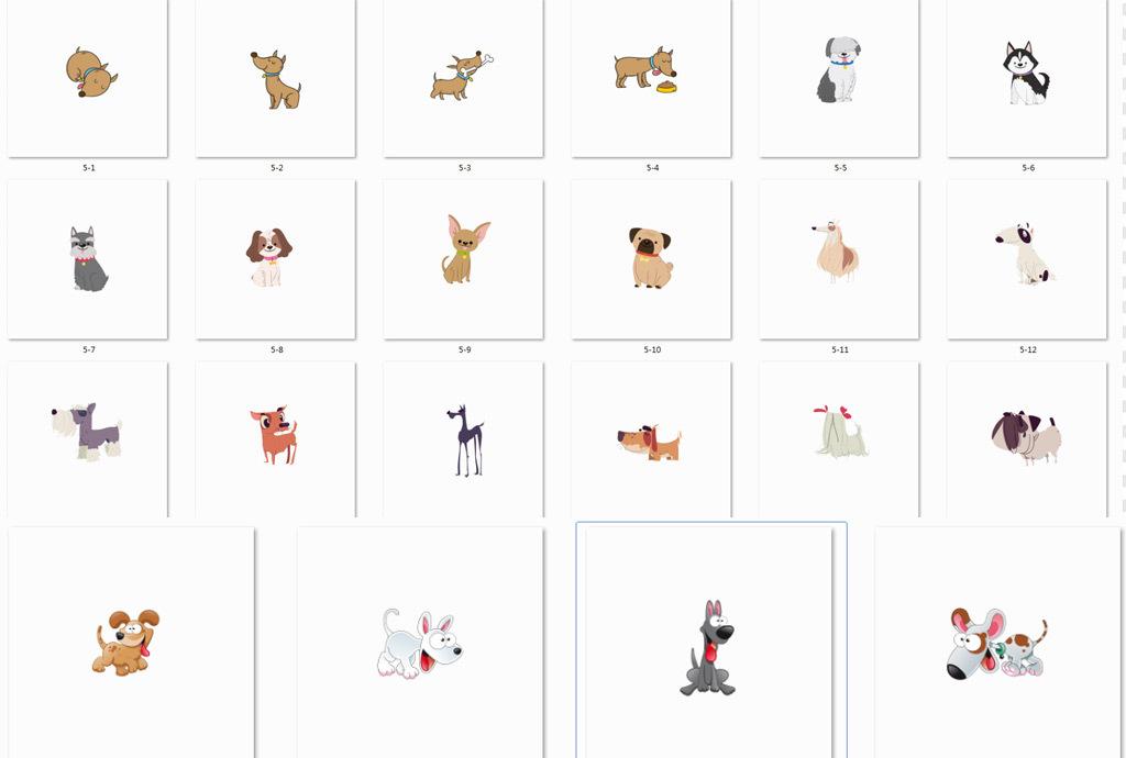 狗年动物萌宠免抠卡通素材手绘卡通可爱卡通手绘免抠素材卡通小狗手绘