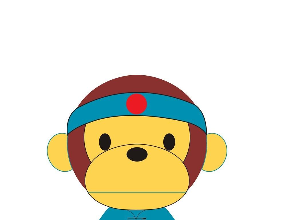 卡通动物猴子