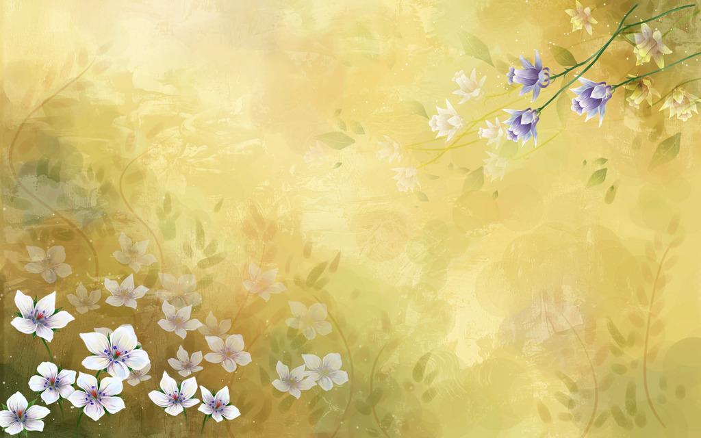 精美炫彩花卉合成ps背景素材18