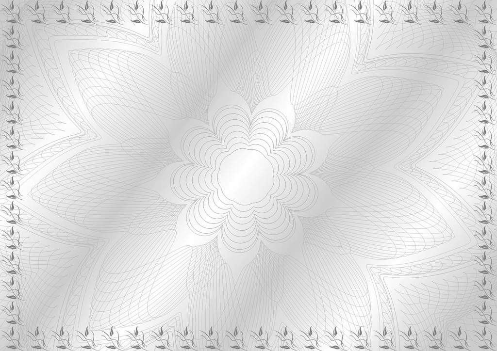 作品模板源文件可以编辑替换,设计作品简介: 灰常亮-防伪证书纹 矢量