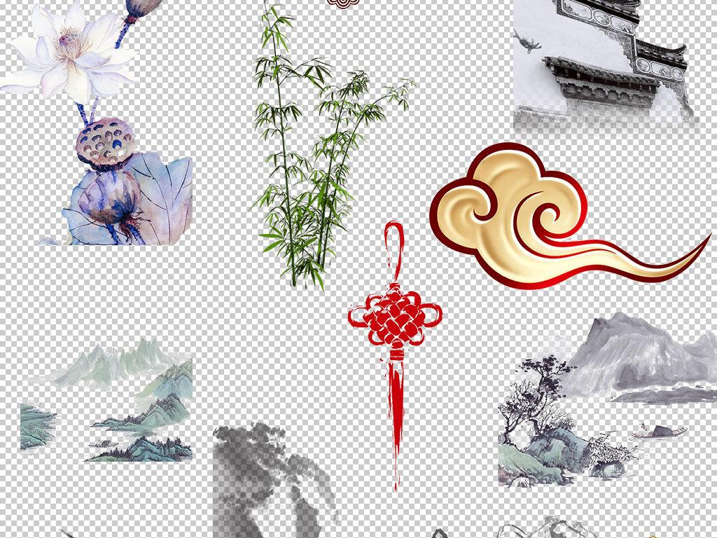 中国风传统元素文化png免扣素材图片