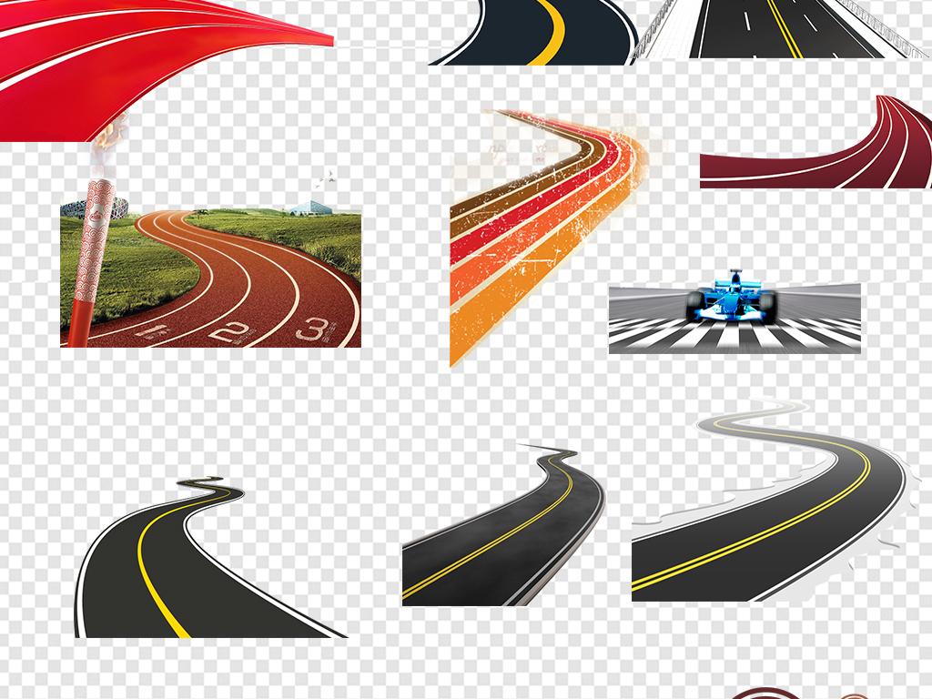 城市道路马路公路跑道素材