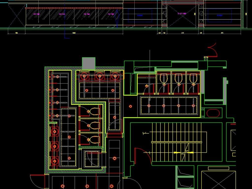 中餐厅CAD全套平面图