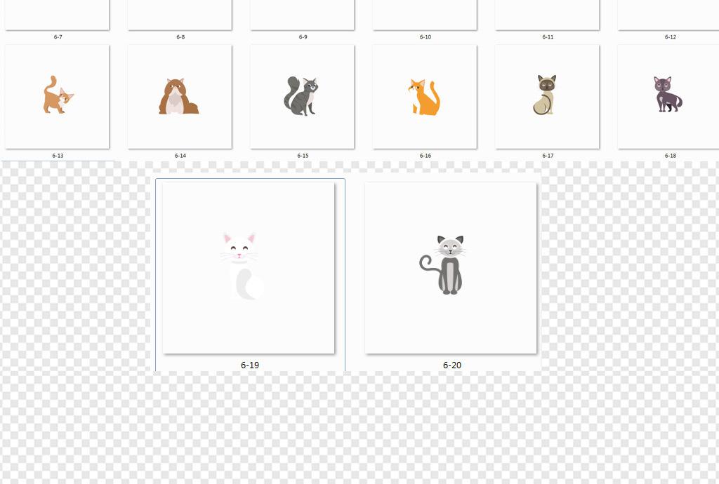 卡通动物                                  卡通小猫