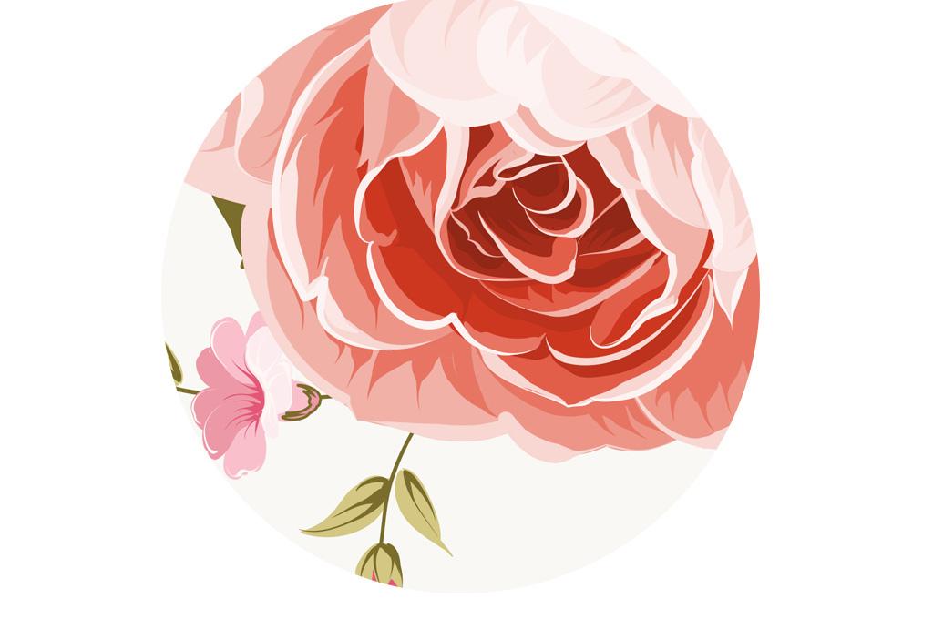 浪漫唯美小清新手绘花卉背景墙壁纸