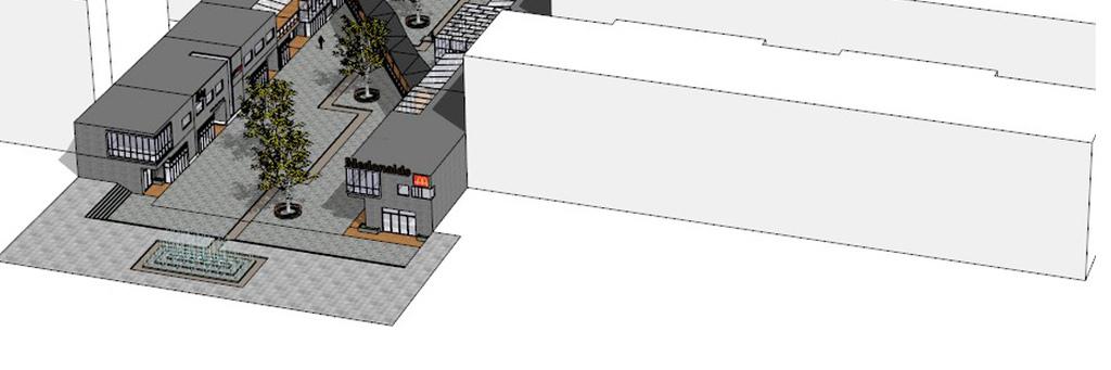 建筑景观园林庭院公园广场规划草图大师毕业设计作业skp模型中式街道