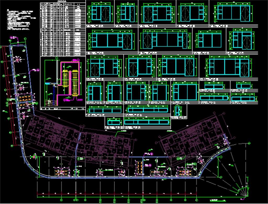某二层商铺cad建筑施工图
