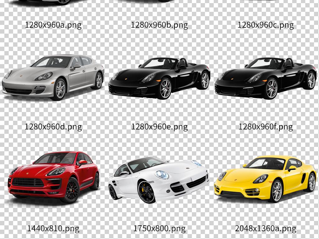 豪华跑车保时捷汽车模型设计素材