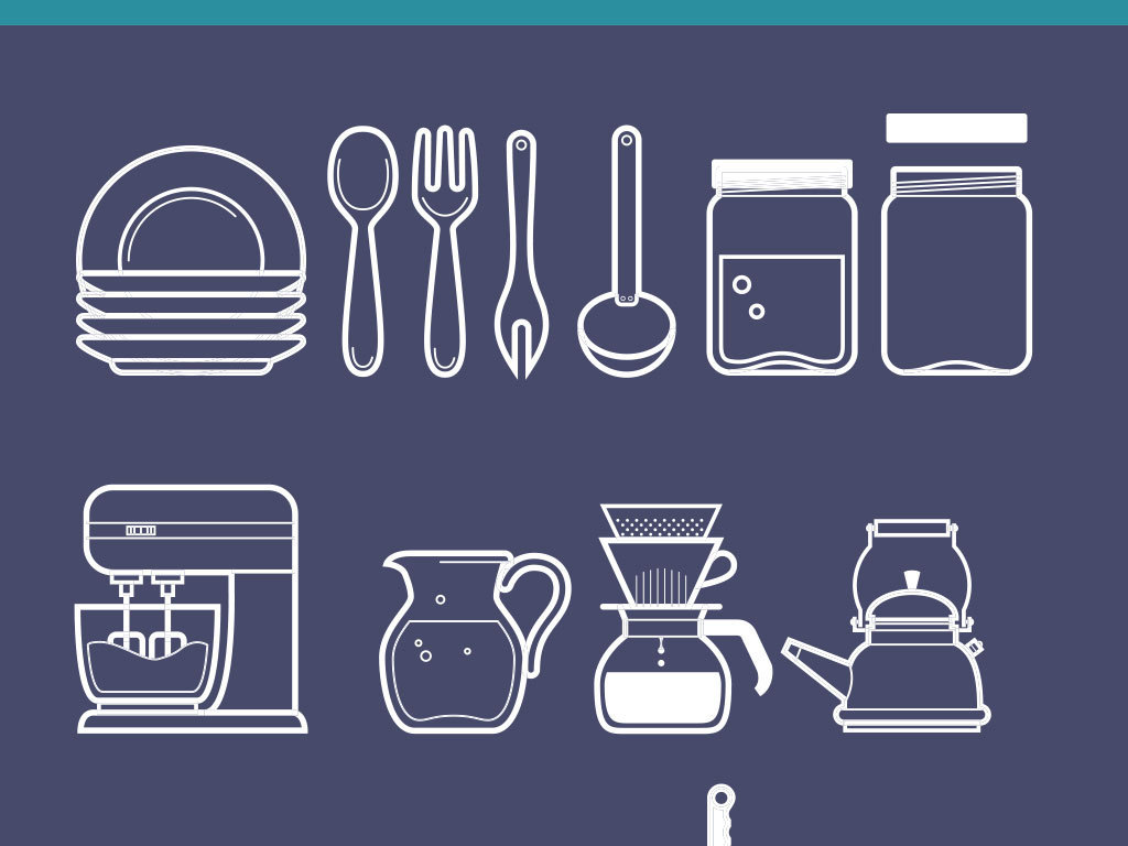 餐具icon圖標