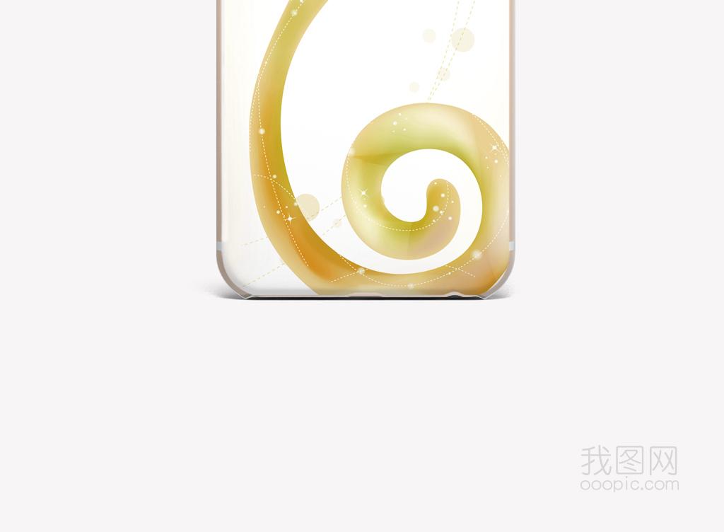 创意曲线图案手机壳图片