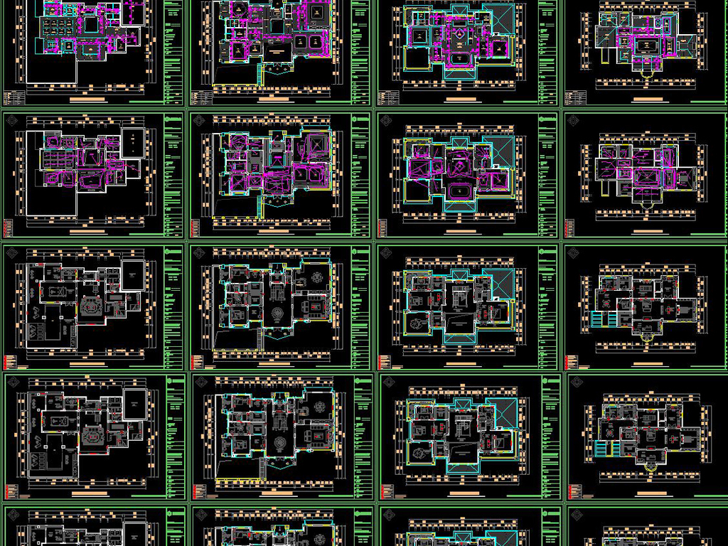 全套混搭别墅CAD施工图