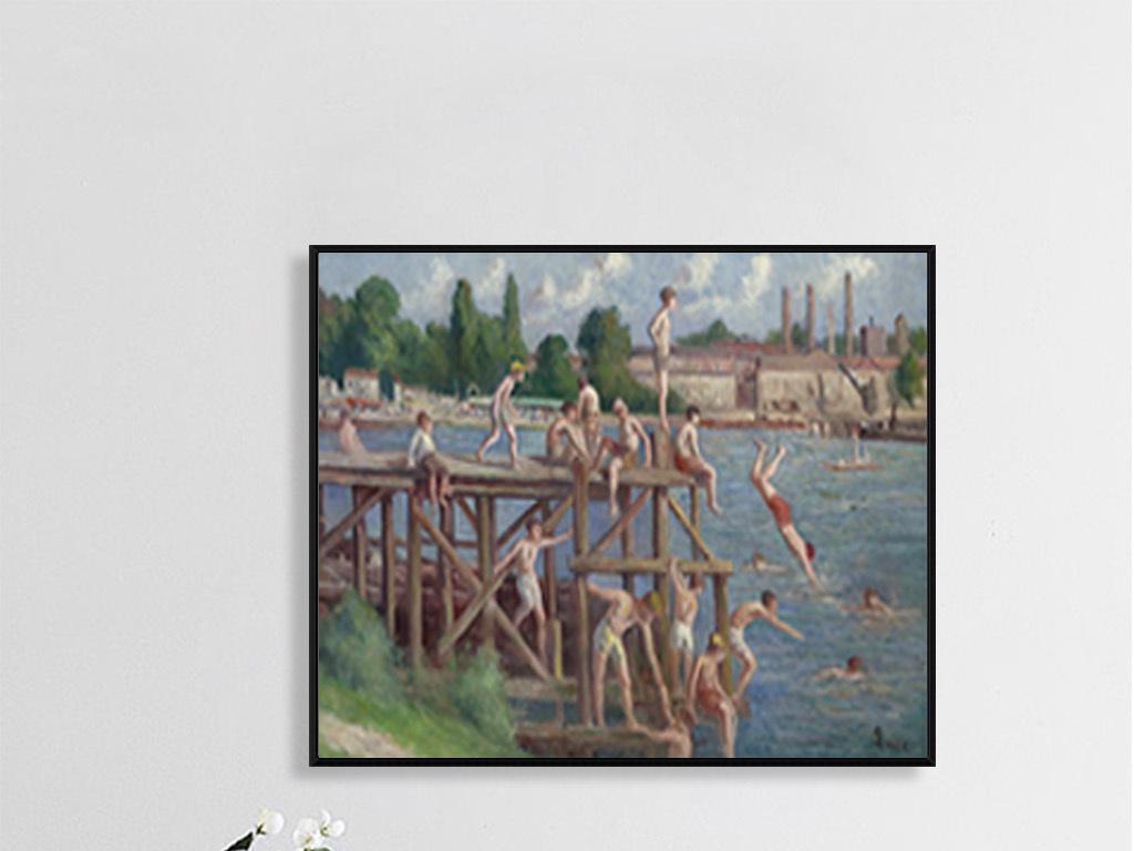 欧式古典手绘油画墙画风景画壁画