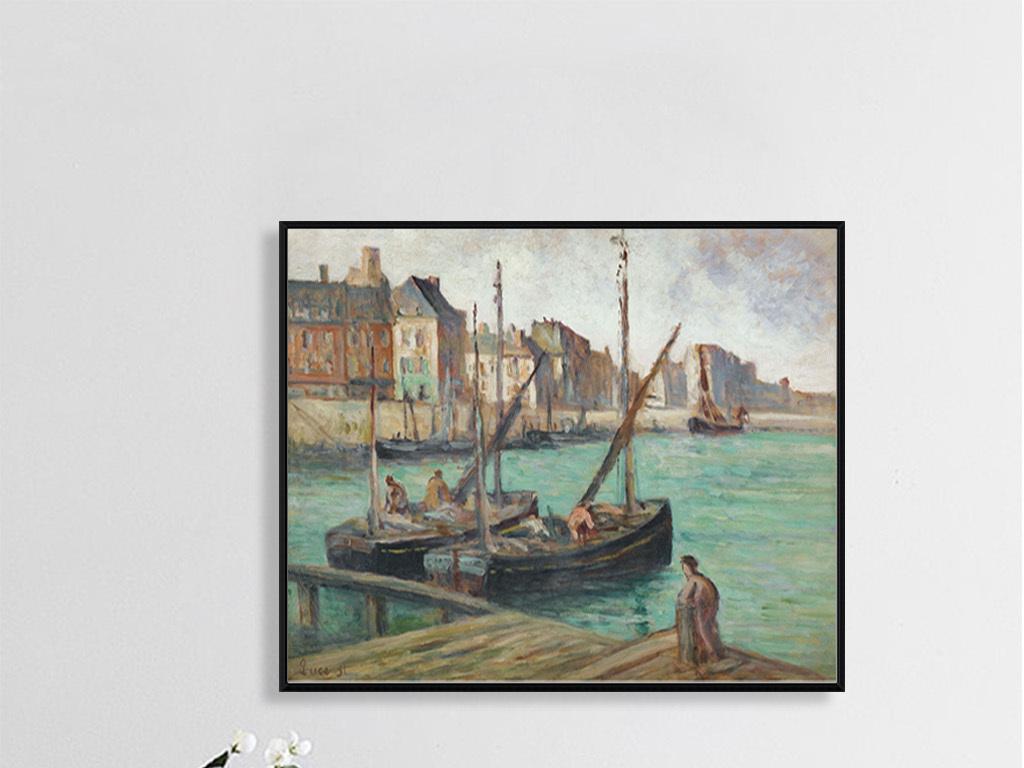 欧洲手绘古典风景油画人物画墙画壁画