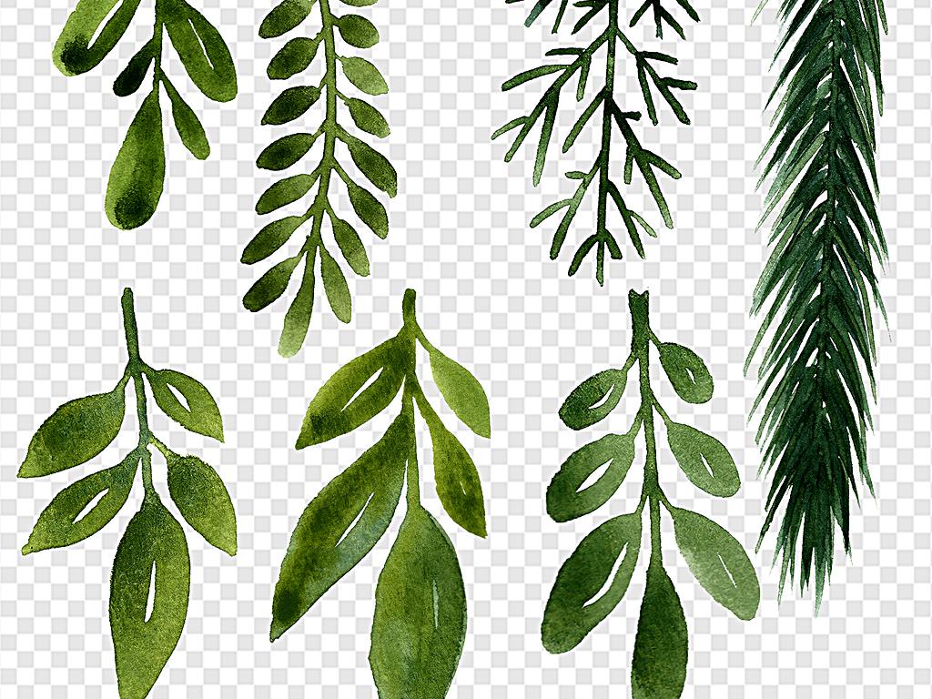 手绘树叶植物纹路叶子线条漂浮底纹花纹背景树叶手绘树叶抽象
