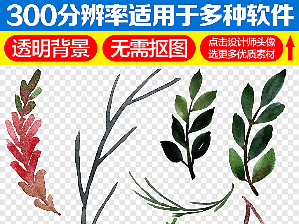 树叶纹理卡通树叶椰子树叶手绘树叶线稿