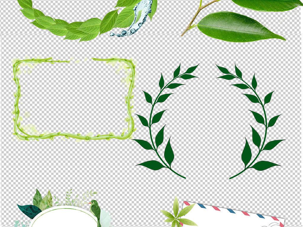 设计作品简介: 春天绿叶树叶悬浮特效海报素材 位图, rgb格式高清大图