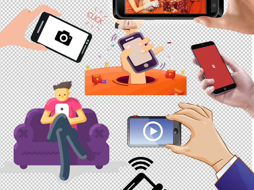 手拿手机苹果手机图片png海报素材