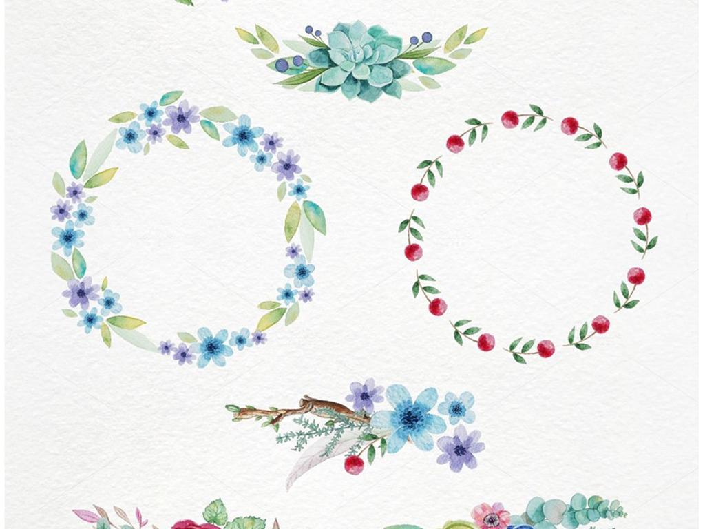 小报素材手绘素材标签素材清新枕头花朵被褥花朵清新淡雅边框花朵花边