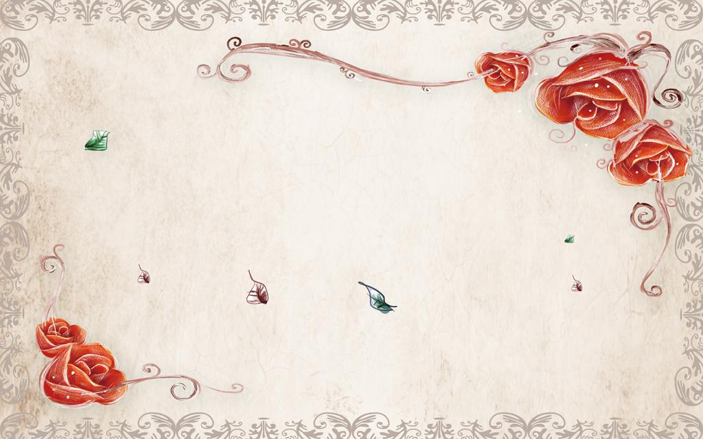 背景墙|装饰画 电视背景墙 电视背景墙 > 手绘玫瑰花复古潮流花卉电视