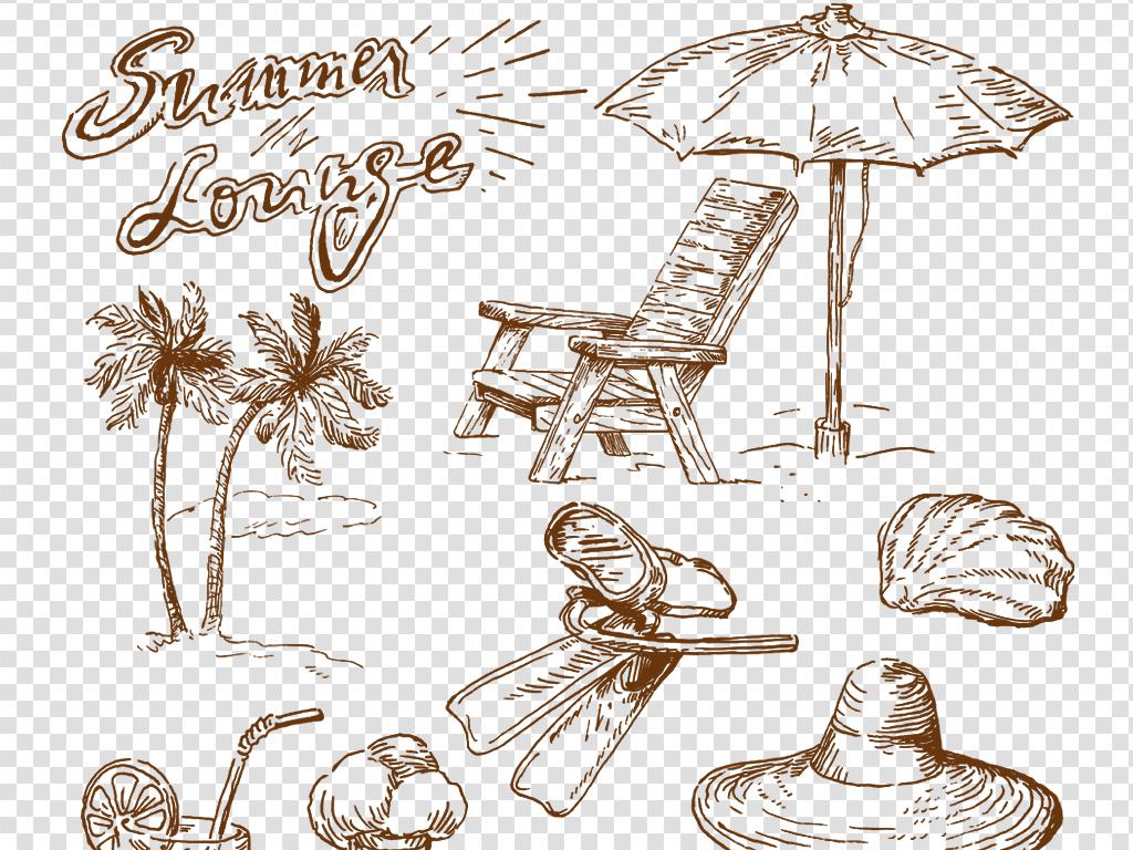 手绘家具素材运动素材夏季png免扣图片
