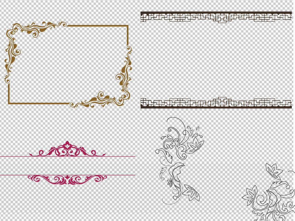 设计元素镂空金色古典花纹复古中式中国风字体文化中国风中国风背景