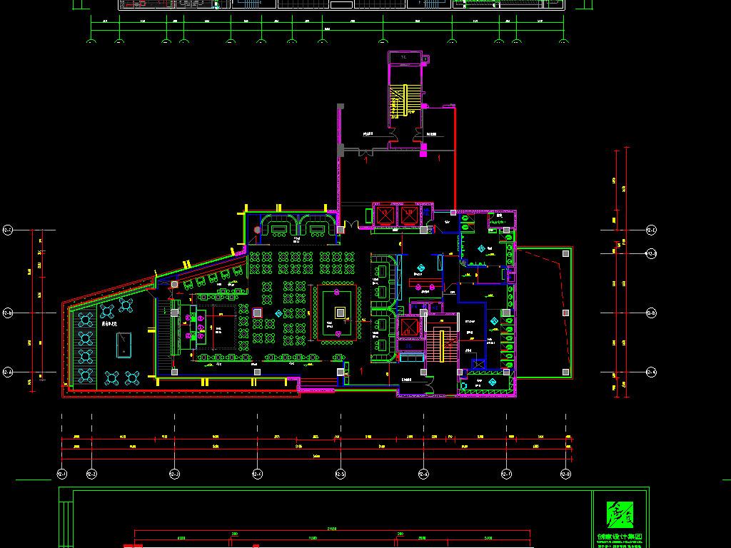 两酒吧cad设计图平面图下载(图片118.95mb)_spa休闲图